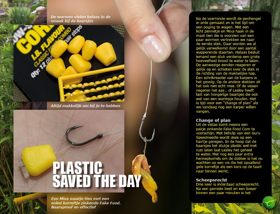 Plastic saved the day - Lesley Ann Haagen