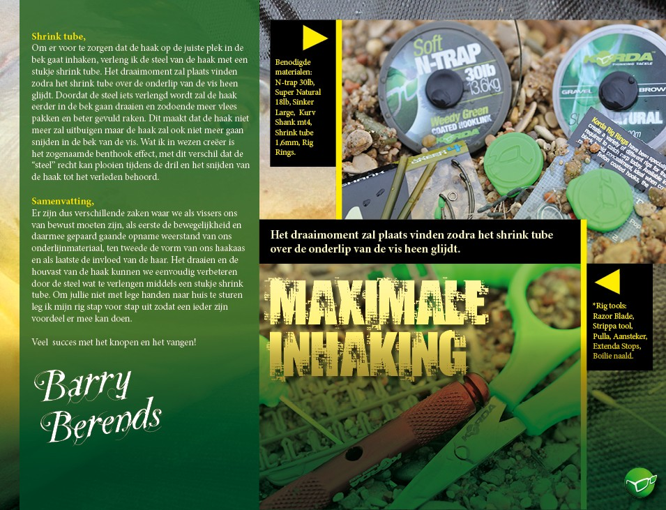 Maximale inhaking - Barry Berends
